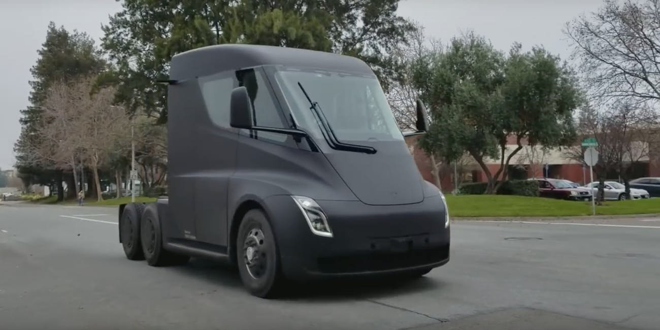 tesla semi prototype spotted on street