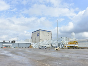 Tornado Wrecks a NASA Rocket and Spacecraft Facility in New Orleans