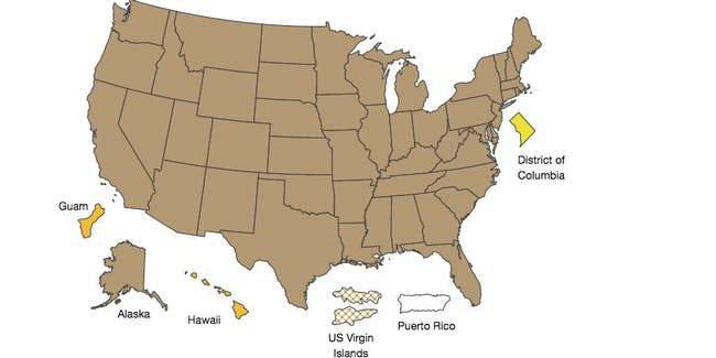 CDC's weekly flu map.