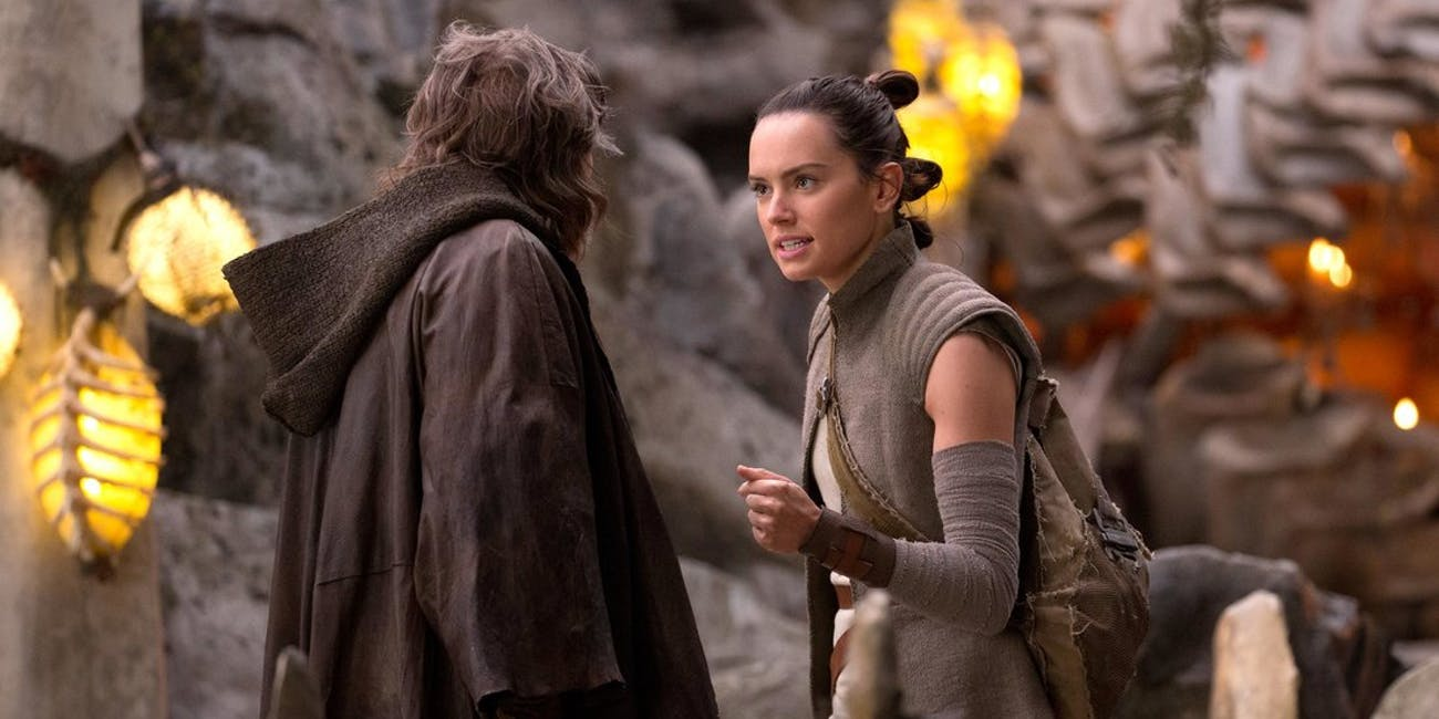 Rey in a deleted scene from 'The Last Jedi'.