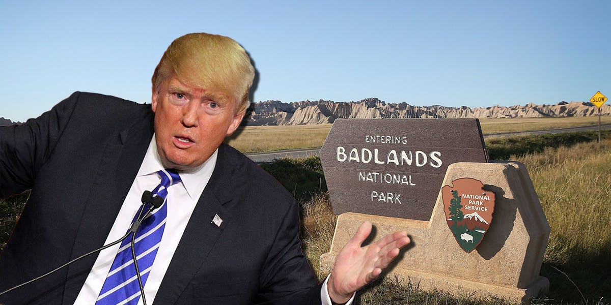 The Twitter account for Badlands National Park tweeted out a lot of climate change science that President Donald Trump probably isn't a fan of.