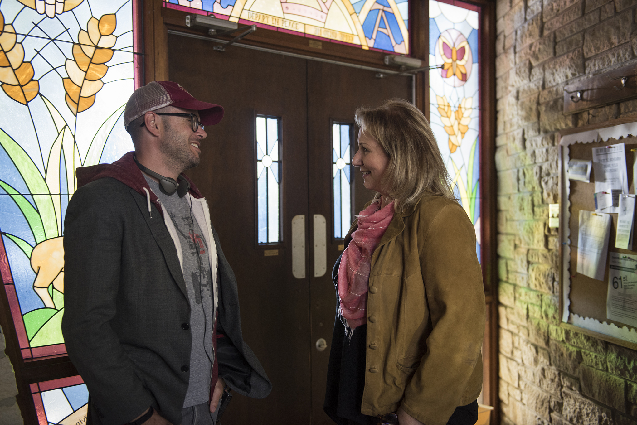 Damon Lindelof and Mimi Leder filming 'The Leftovers' Season 3