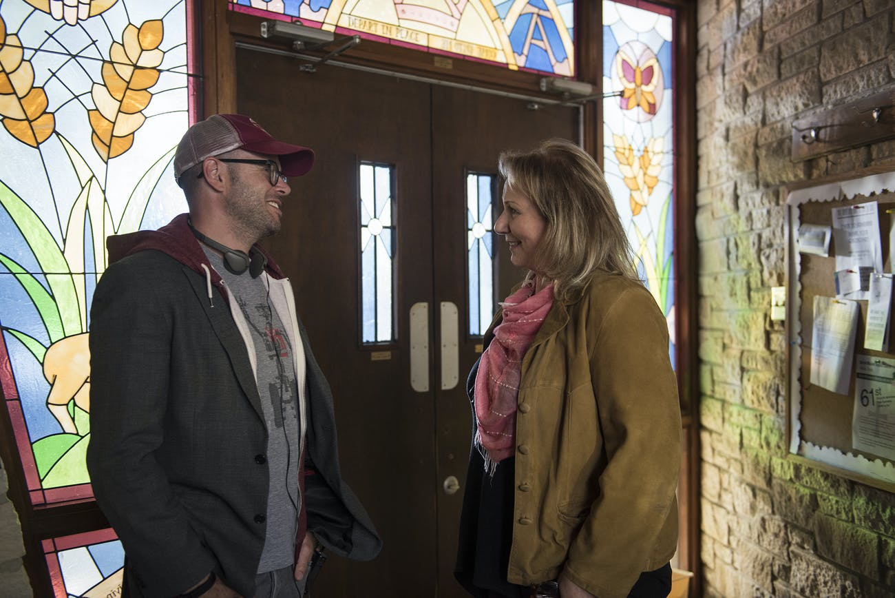 Damon Lindelof and Mimi Leder filming 'The Leftovers' Season 3