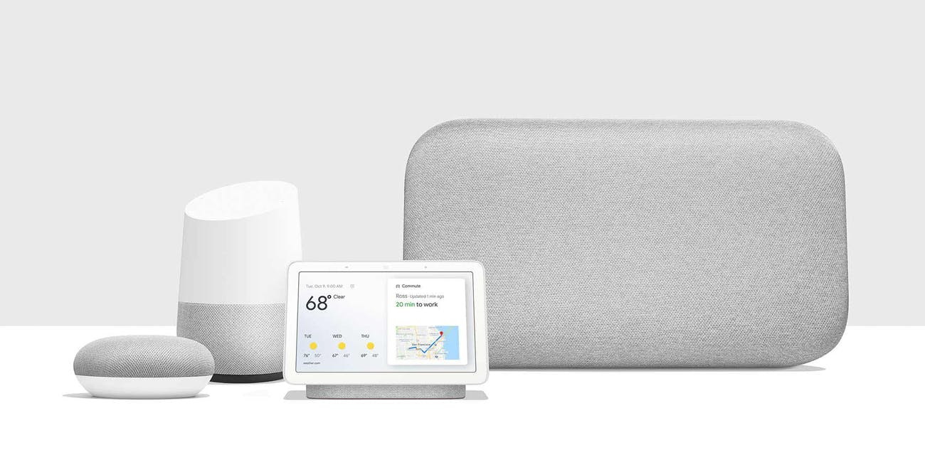 Google Home smart assistant family