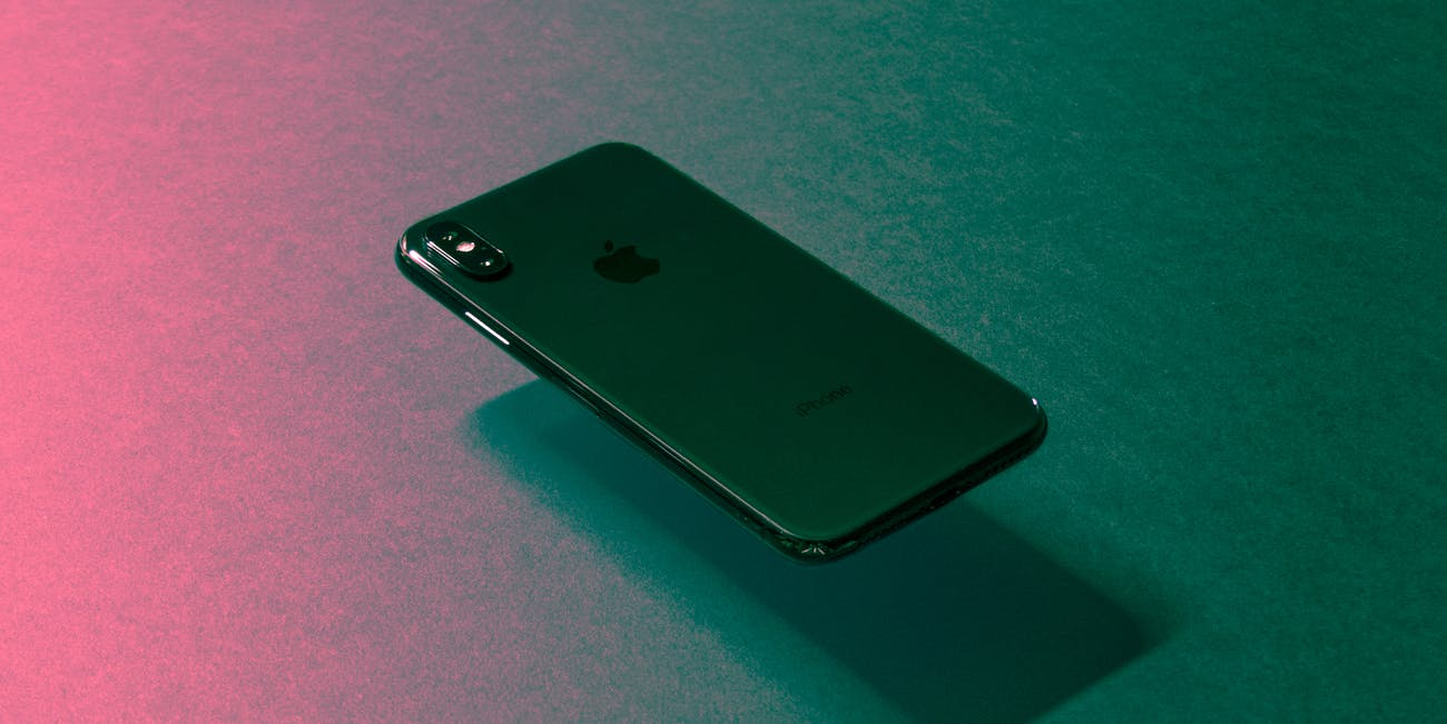 iPhone X floating