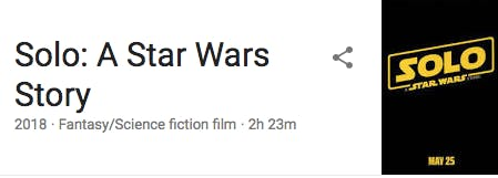 Google result for 'Solo'