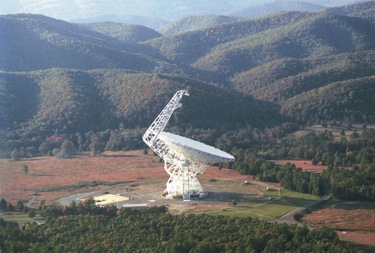 The Green Bank Telescope.