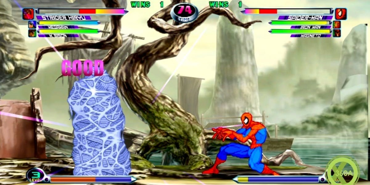Spider-Man in Marvel vs. Capcom 2