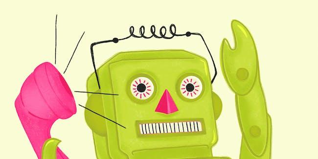robot phone call