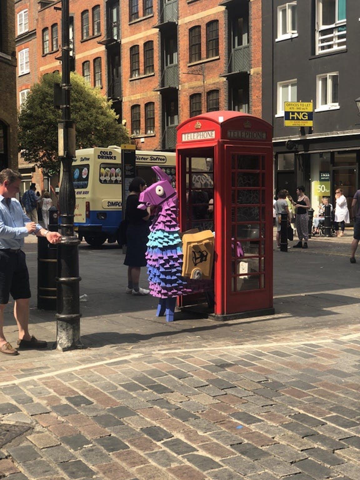 London 'Fortnite' Supply Llama