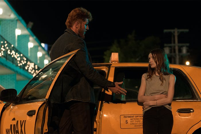 Emily Browning and Pablo Schreiber in 'American Gods'