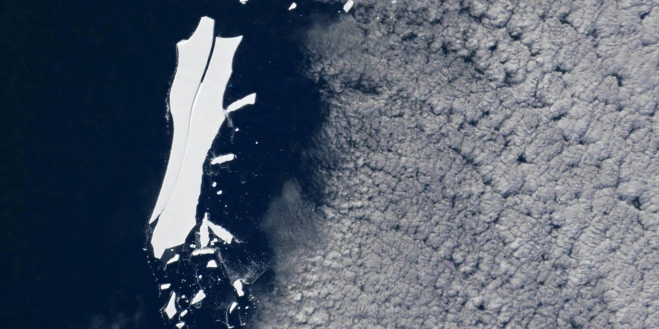 Iceberg B-15 melting away
