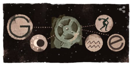 google doodle antikythera mechanism ancient greek calendar clock computer