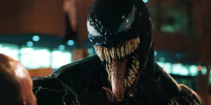 The symbiote has a beautiful smile in 'Venom'.