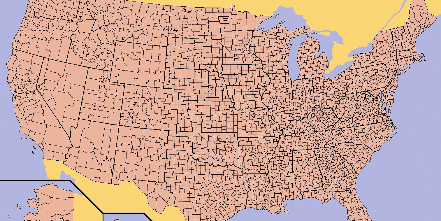 map of US counties