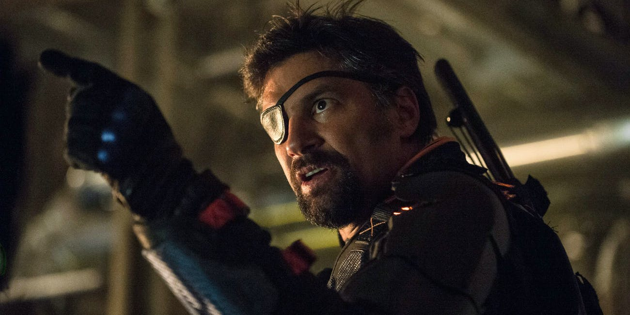 Manu Bennett as Slade Wilson, aka Deathstroke, on 'Arrow.'