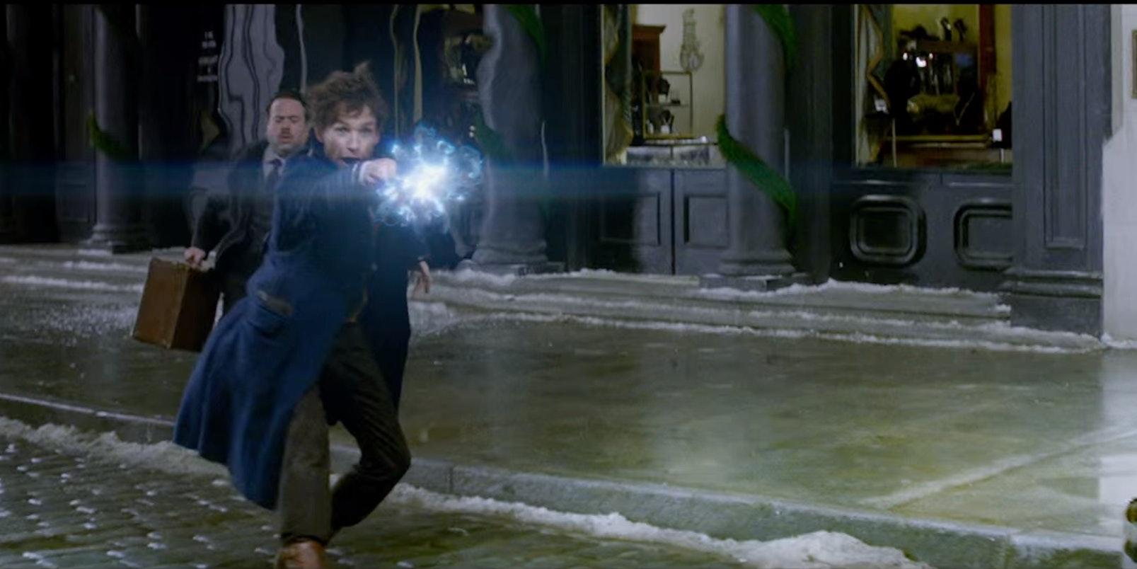 Eddie Redmayne as Newt Scamander in 'Fantastic Beasts'