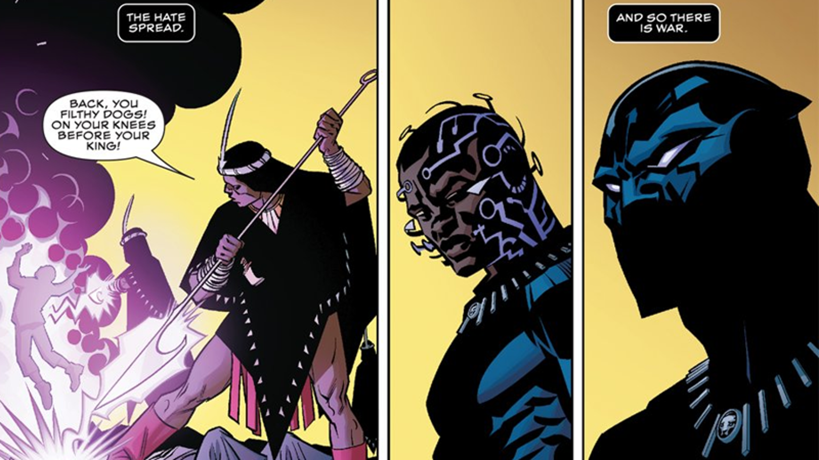Panel from Marvel's Black Panther #1