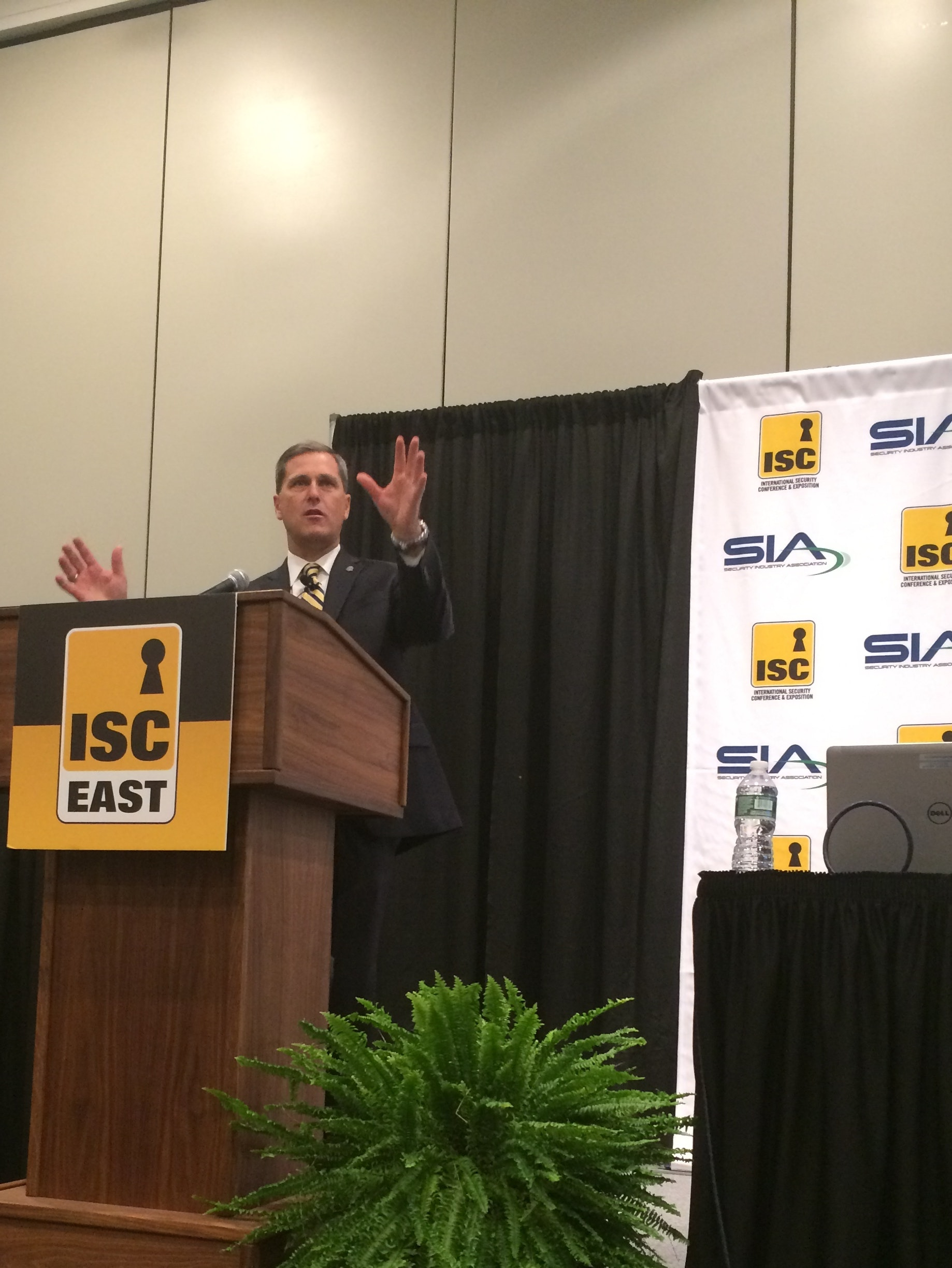 Philip Celestini, section chief at FBI's Cyber Division, addresses a gathering at ISC East
