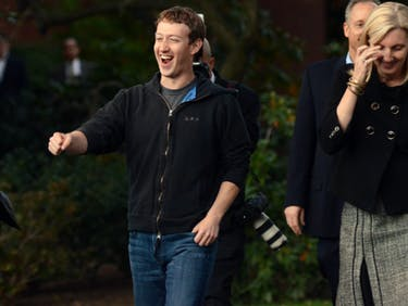 Facebook founder Mark Zuckerberg prepares to speak to reporters at Harvard University November 7, 2011 in Cambridge, Massachusetts. Zuckerberg visited Massachusetts Institute of Technology and Harvard to recruit students for jobs and internships with the social networking site.