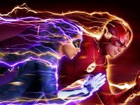The Flash and XS in 'The Flash' Season 5 poster.