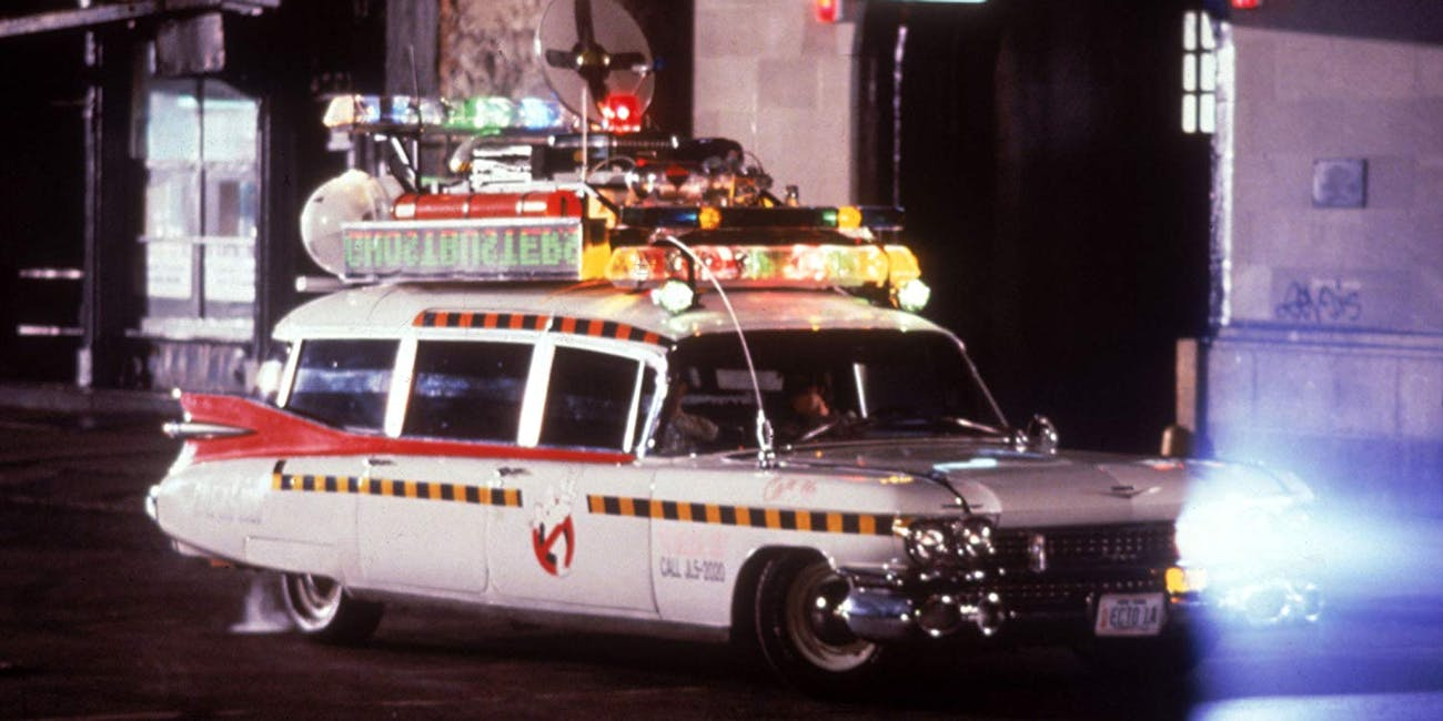 The Ecto-1, as seen in 'Ghostbusters II'