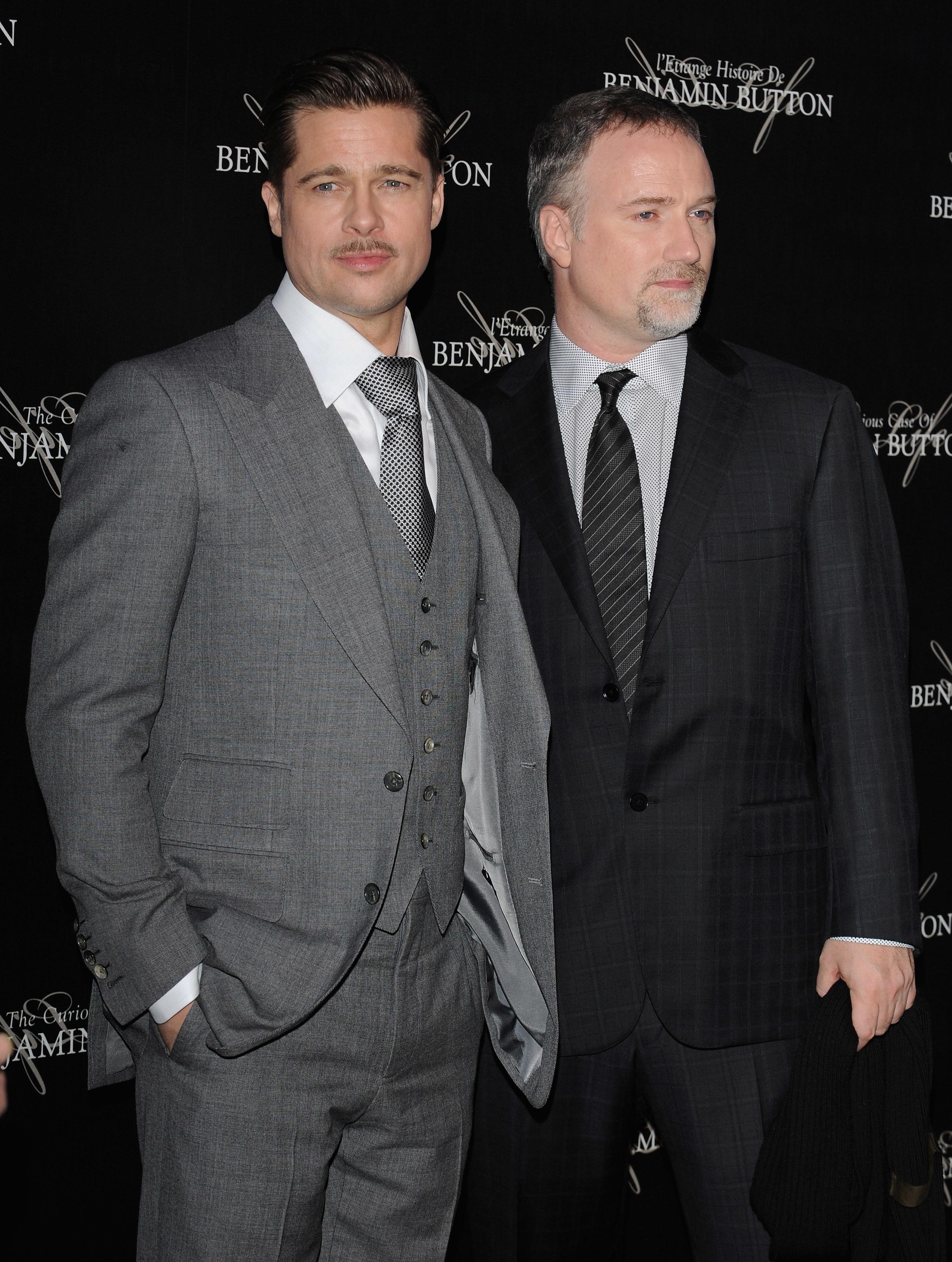 Best zombie buds Brad Pitt and David Fincher.