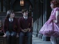 Sunny, Violet and Klaus meet their nemesis: Carmelita Spats.