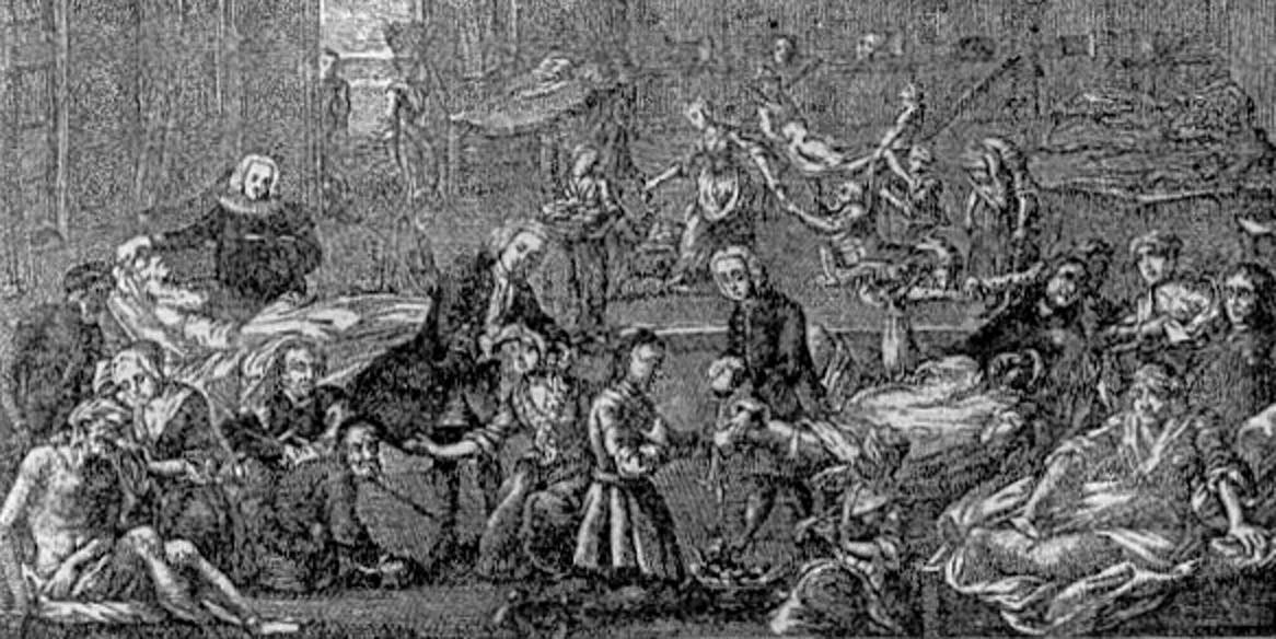 Plague hospital in Hamburg 1758