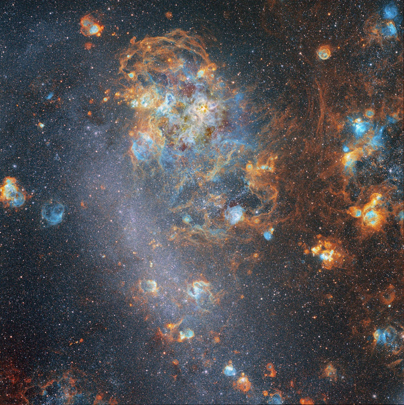 A view of the Large Magellanic Cloud