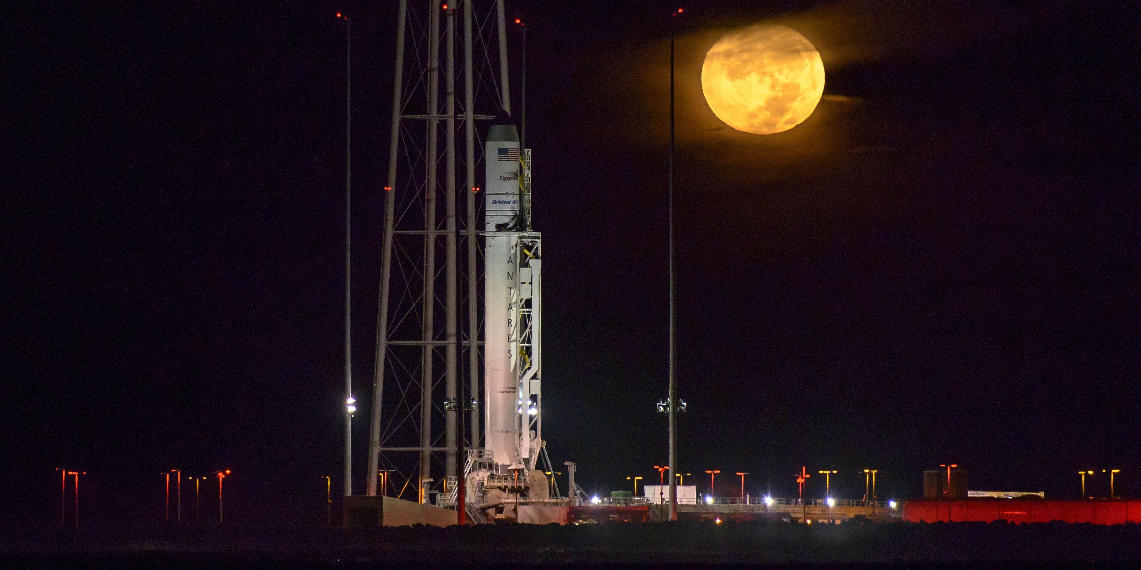 The Orbital ATK Antares rocket is ready to take from Wallops Island, VA on Sunday, October 15.