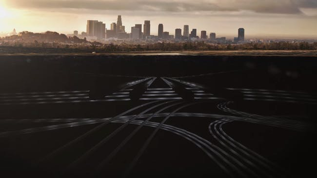 Elon Musk's boring company design reveals 30 layers of tunnels underneath a city.