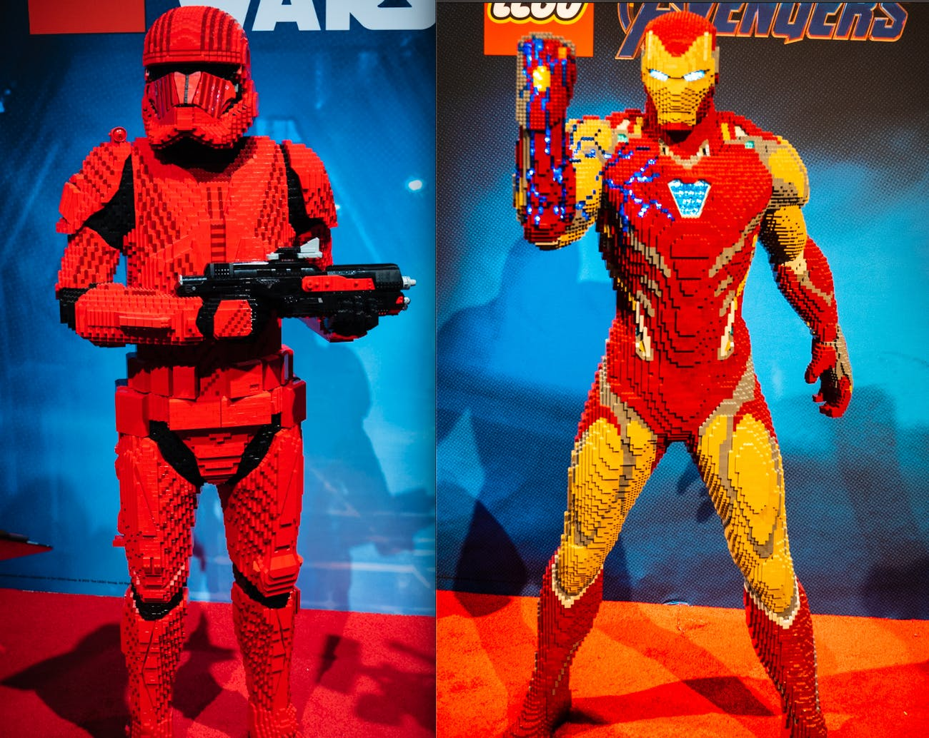 Big legos of star wars and iron man