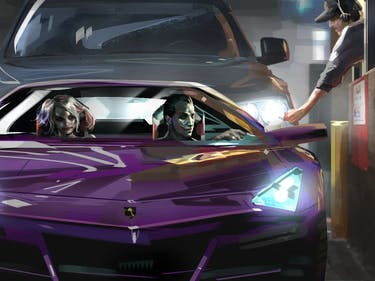 Joker and Harley Quinn concept art for 'Suicide Squad'