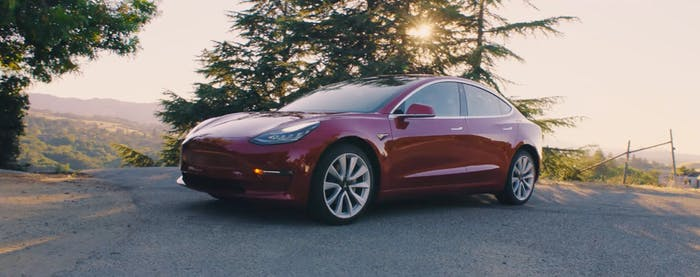 Tesla's Model 3.