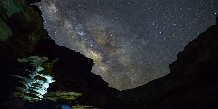 grand canyon time lapse video stars sky