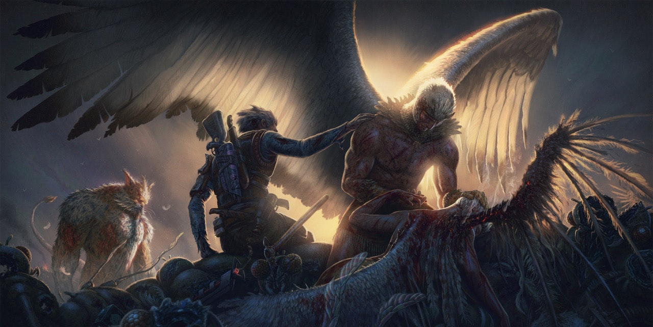"""""""Bird persons big day at Blood Ridge on Glapflaps third moon against the Gromflomites"""""""