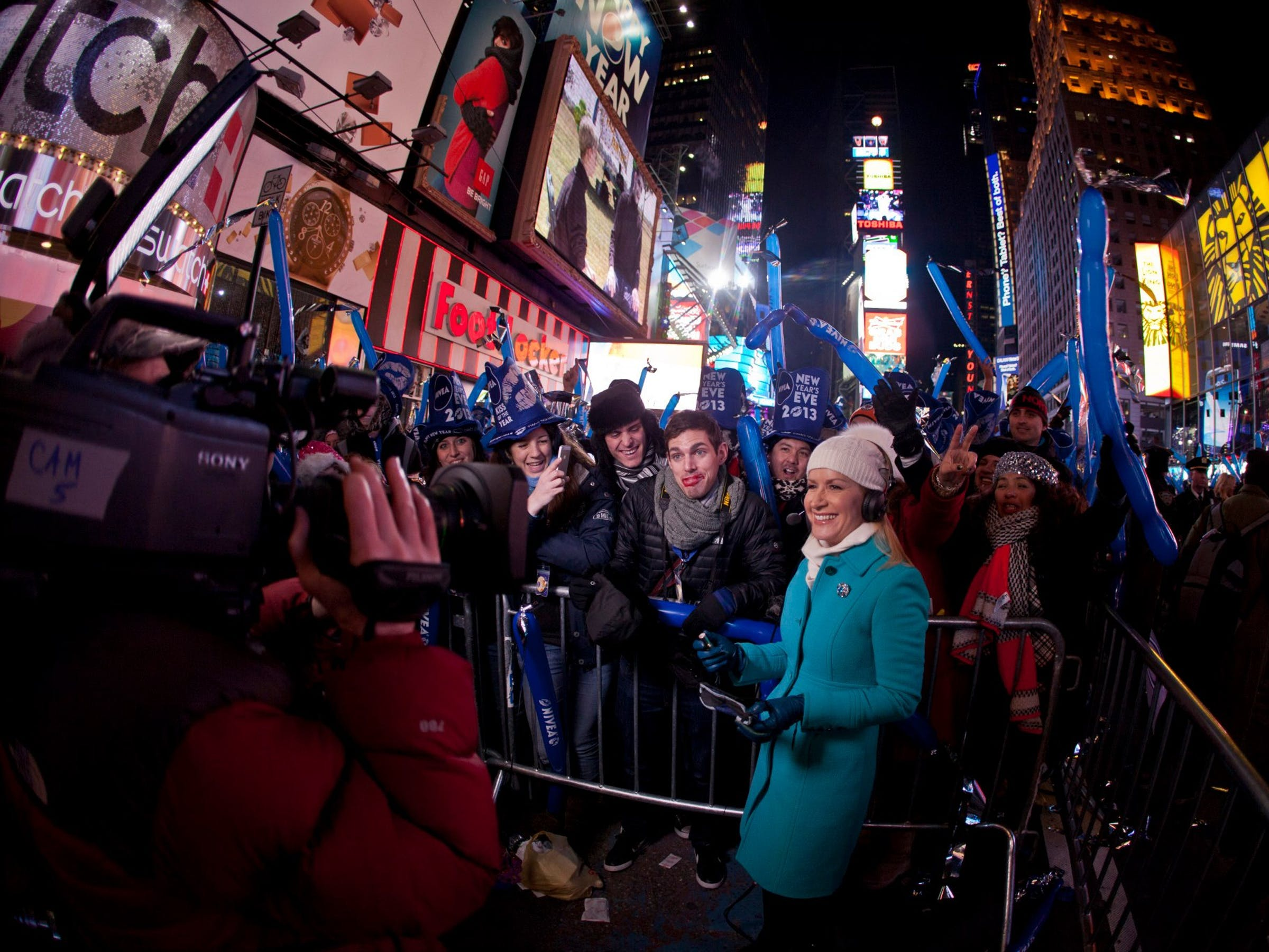 New Year's Eve in Times Square New York City working with NBC