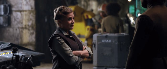 Carrie Fisher in 'The Force Awakens'