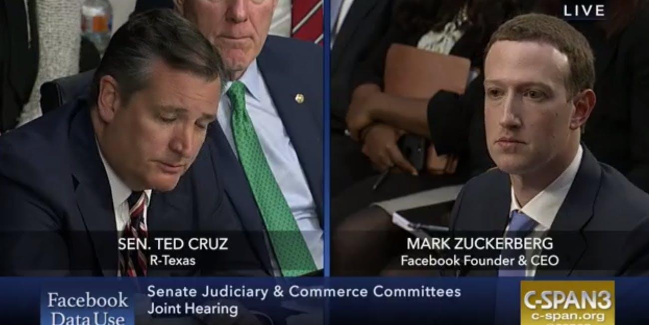 Ted Cruz, Cambridge Analytica customer.