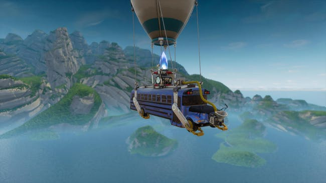 Battle Bus in 'Fortnite: Battle Royale'