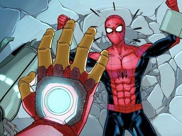 Watch Iron Man Train Spider-Man in Marvel Video Comic Clip