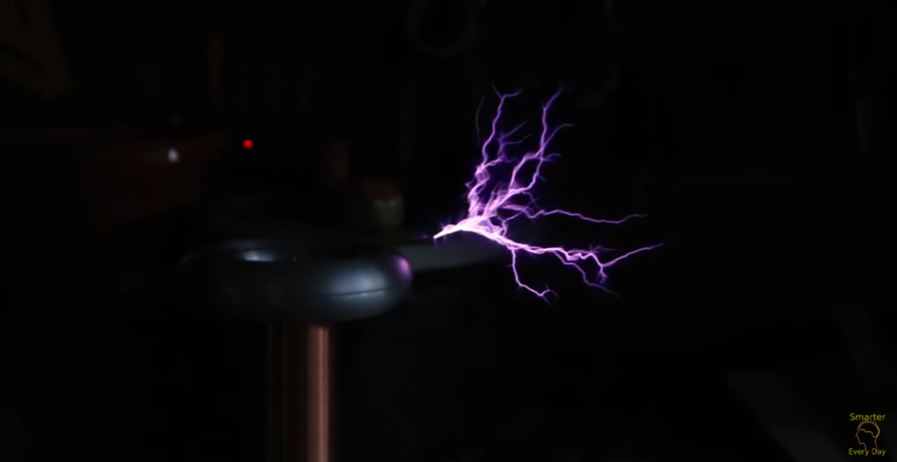 Tesla coil in action.
