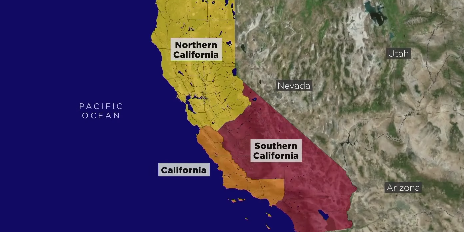 California Maps Show What It Could Look Like If Split Into 3