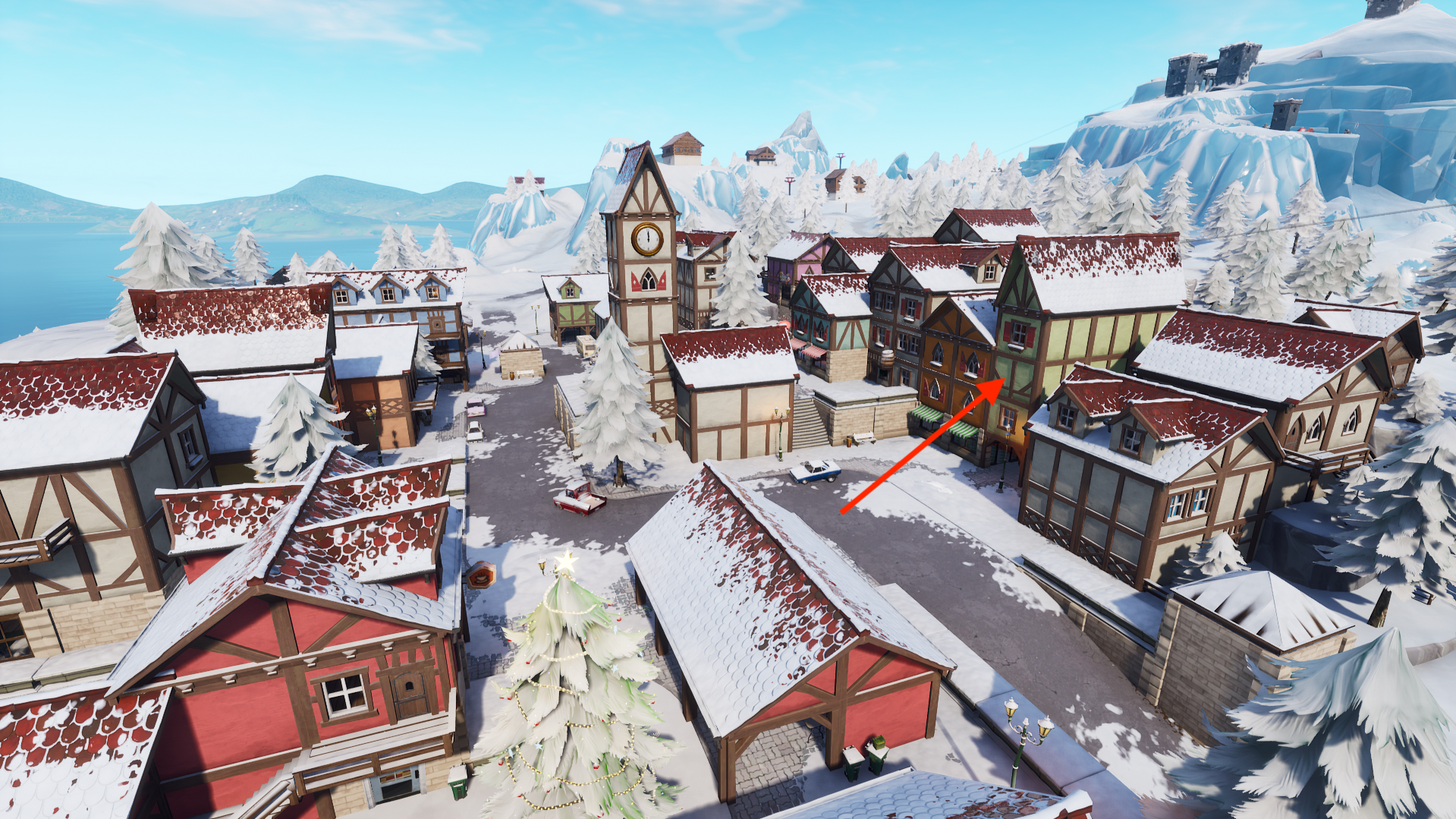 fortnite week 4 secret battle star location leads to a hidden banner inverse - fortnite background png snow
