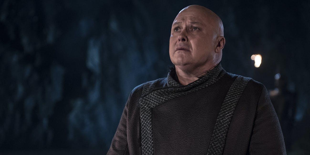 "Varys (Conleth Hill) prepares to die on 'Game of Thrones' Season 8 Episode 5, ""The Bells"""