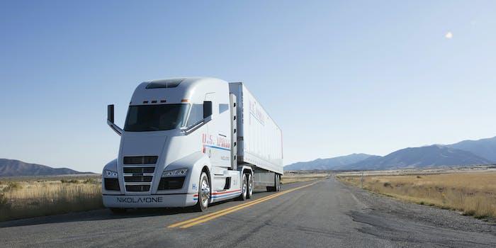 Nikola One hydrogen truck.