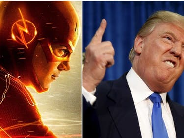 President Donald Trump and the CW's 'The Flash'