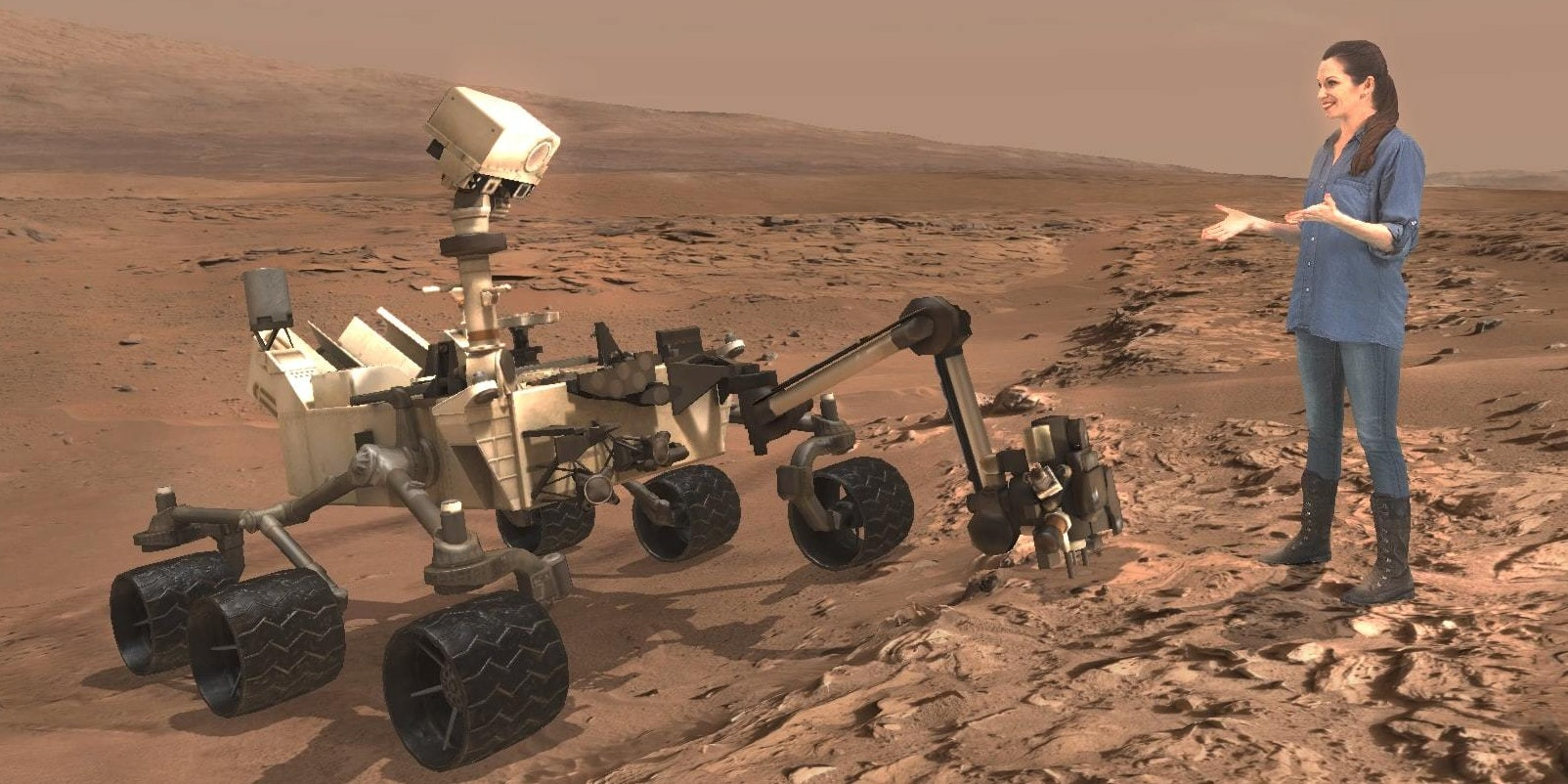 You can now explore Mars virtually with Buzz Aldrin as your guide.