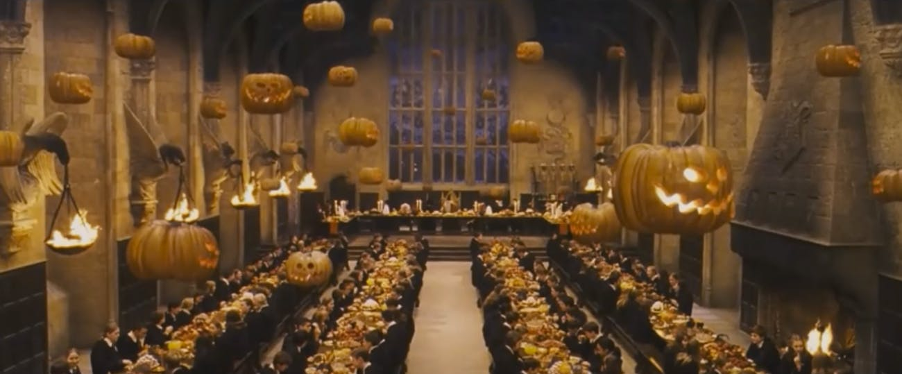 The Halloween Feast in 'Harry Potter and the Sorcerer's Stone'